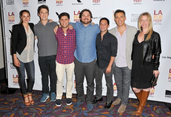 Team Perserverance: From left, Ms. Woodley, actor Miles Teller, screenwriter MIchael H. Weber, Director James Ponsoldt, screenwriter Scott Neustadter, producer Tom McNulty and producer Michelle Krumm.