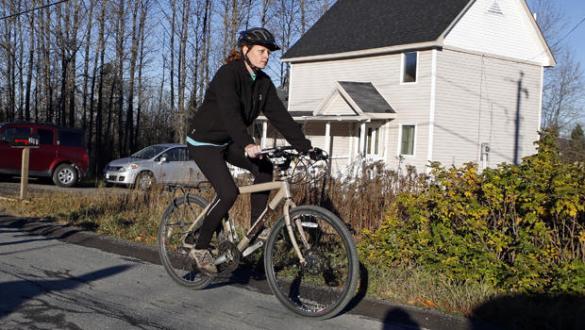 You ride that bike, girl.