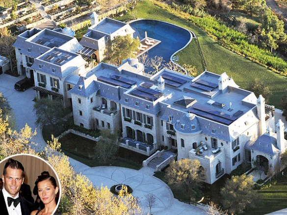 Tom & Gisele's LA mansion has a moat. #nuffsaid