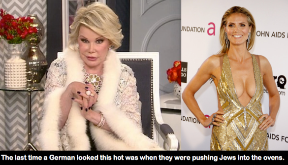 ... and this is an actual Joan Rivers joke from Fashion Police