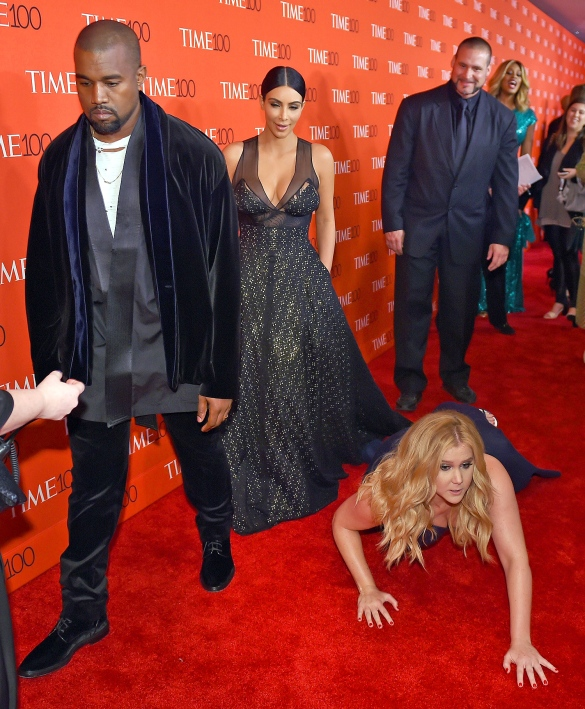 They didn't even mind when Amy Schumer threw herself in front of them... literally. #goAmy