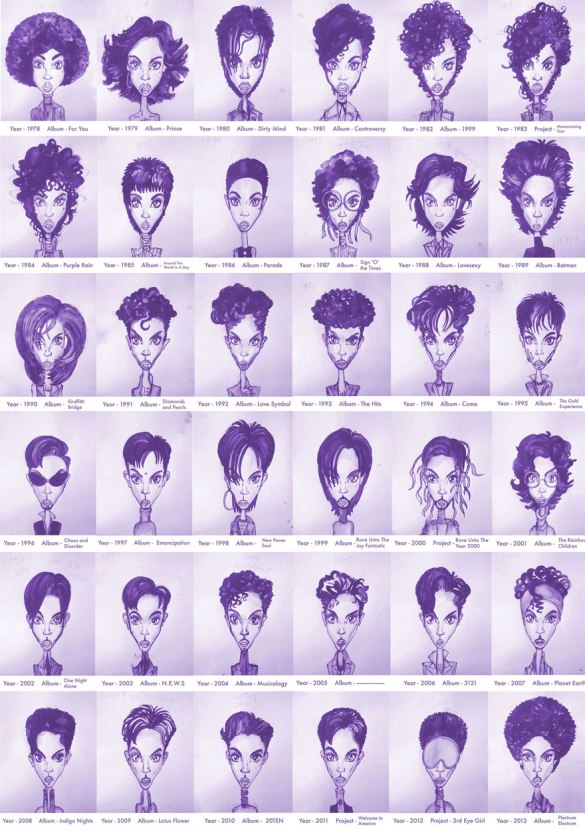 The many faces of Prince