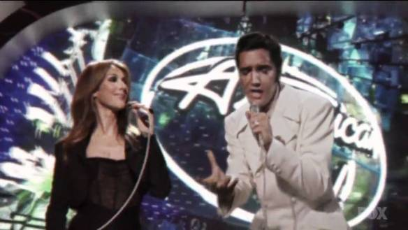 American Idol featured Celine Dion with Elvis in 2007... so even THIS isn't an original idea!