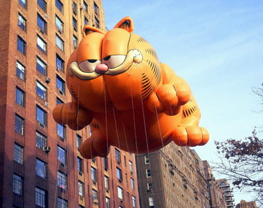The only tolerable fat cat terrorizing NYC on Thanksgiving