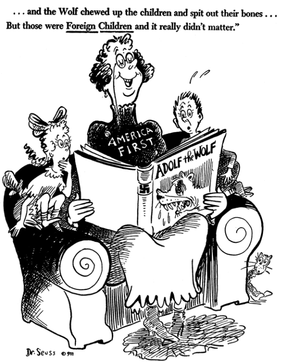 ... or not. Dr Seuss cartoon, circa 1941.